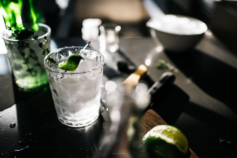 thyme gin and tonic recipe - www.iamafoodblog.com