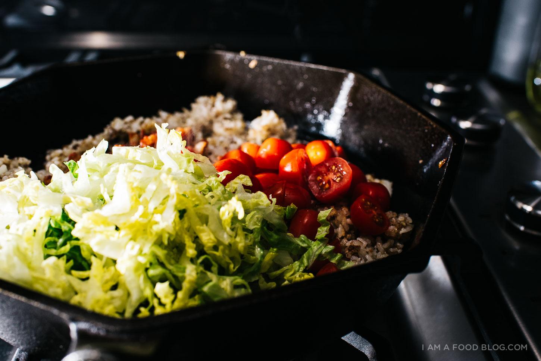 BLT fried rice recipe - www.iamafoodblog.com