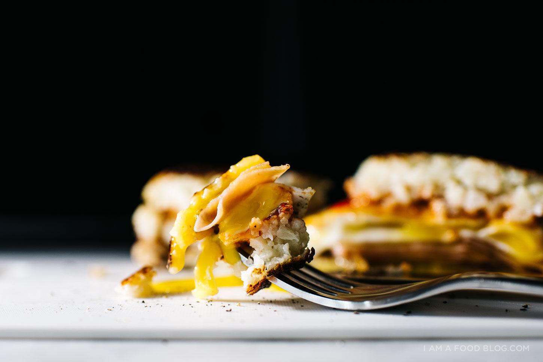 cauliflower hash brown breakfast sandwich recipe - www.iamafoodblog.com