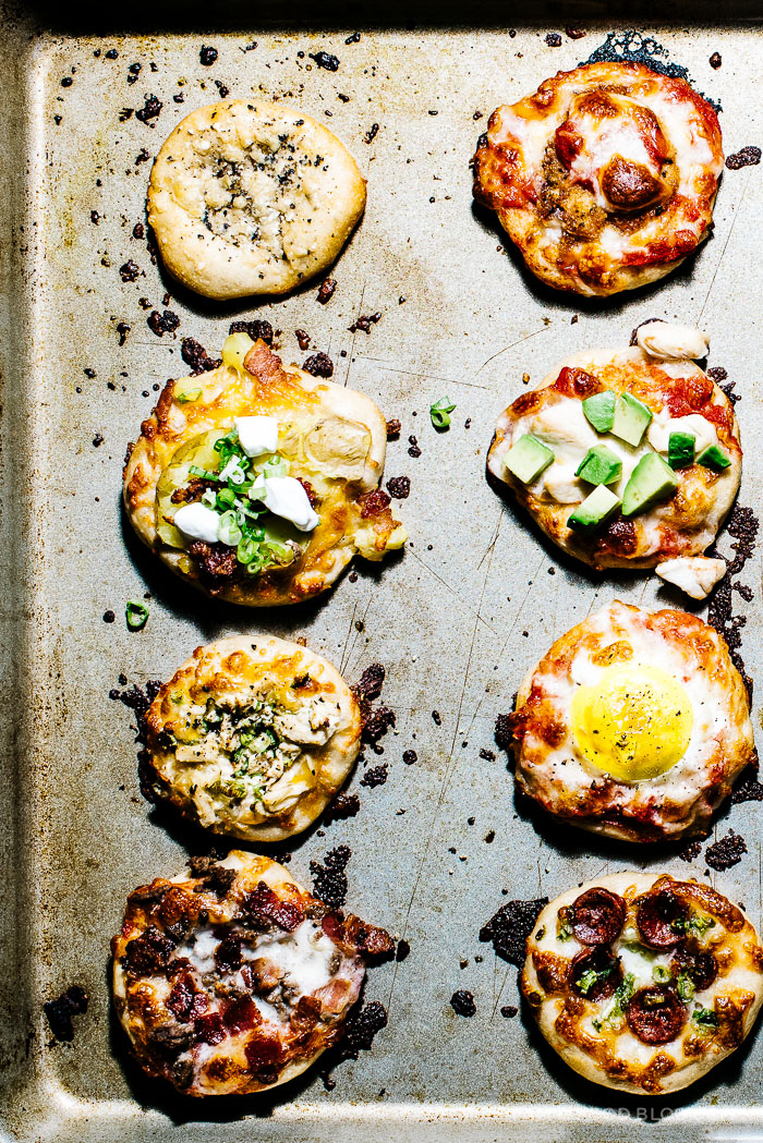 mini no knead pizza recipe - www.iamafoodblog.com