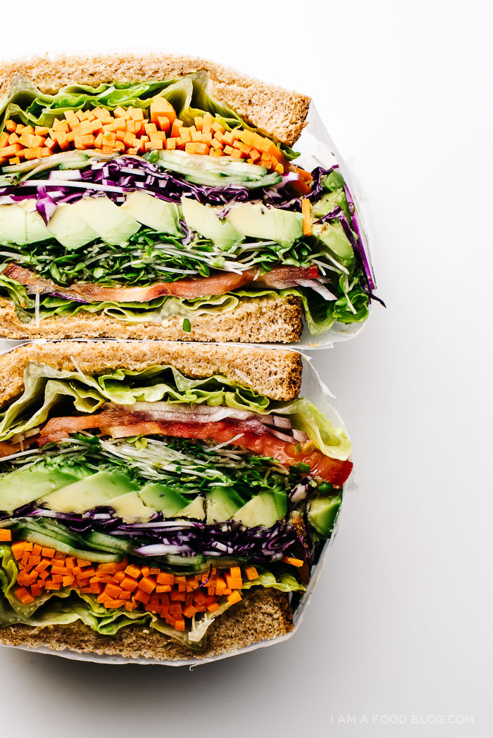 the ultimate veggie sandwich recipe - www.iamafoodblog.com