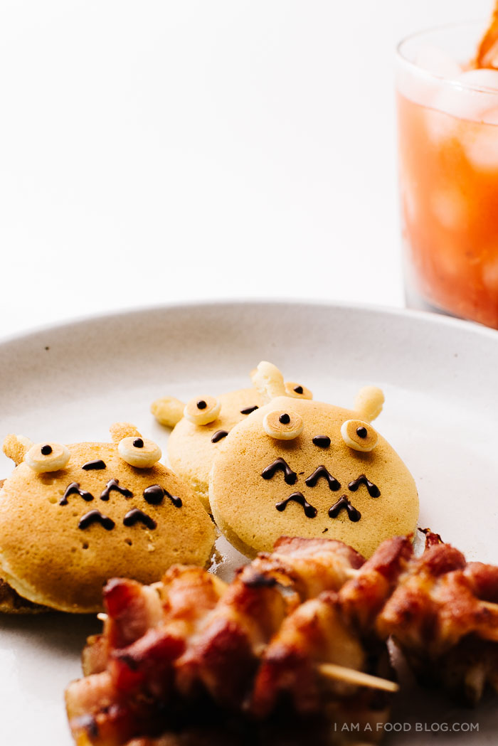 how to make a totoro breakfast - www.iamafoodblog.com