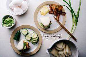 bacon and egg bao - www.iamafoodblog.com