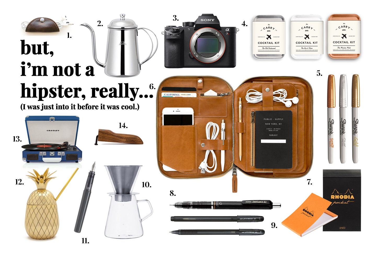 i am a food blog hipster gift guide