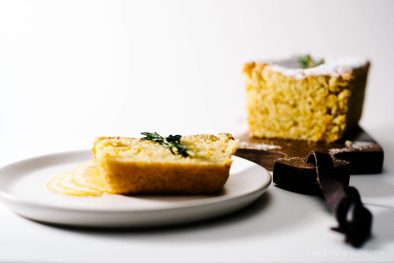 lemon almond loaf - www.iamafoodblog.com