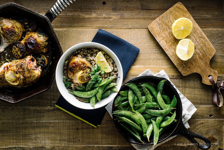 lemon rosemary roast chicken recipe - www.iamafoodblog.com