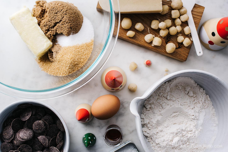 marzipan chocolate chip cookie recipe - www.iamafoodblog.com