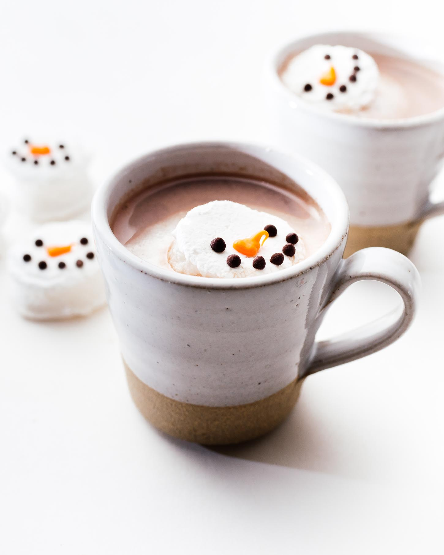 mint marshmallow snowman | www.iamafoodblog.com