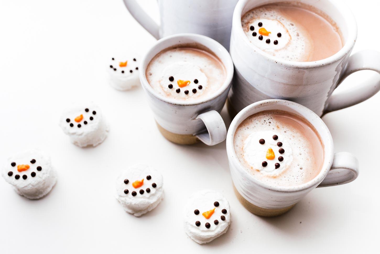 homemade snowman marshmallows | www.iamafoodblog.com