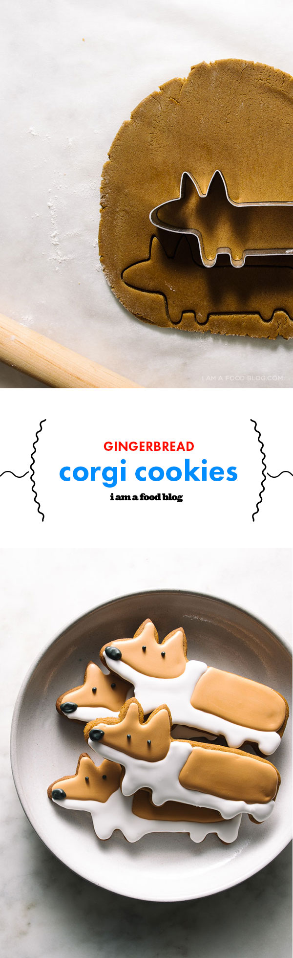 gingerbread corgi cookies | i am a food blog
