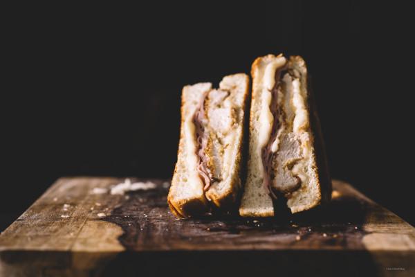 chicken cordon bleu grilled cheese - www.iamafoodblog.com