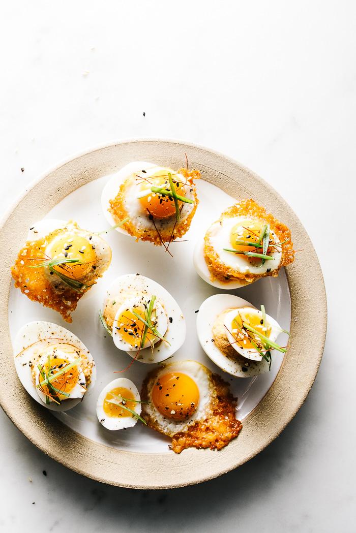 spicy korean deviled eggs - www.iamafoodblog.com