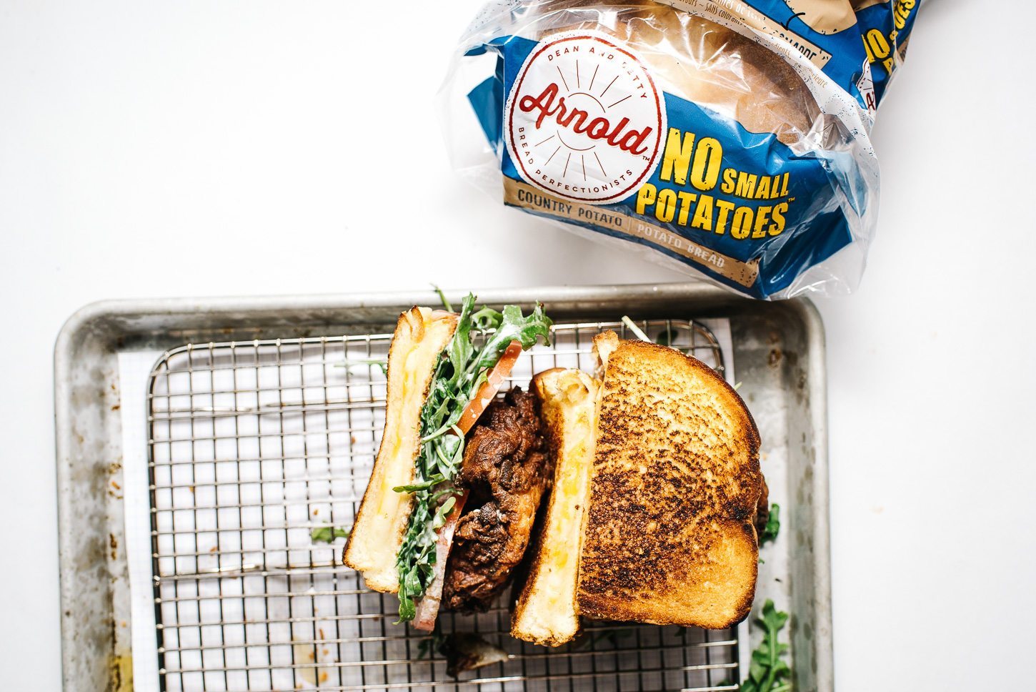 fried chicken grilled cheese - www.iamafoodblog.com