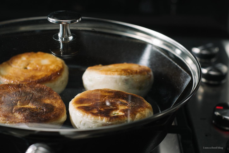 bacon-studded, potato-filled, cheesy sesame bread - www.iamafoodblog.com