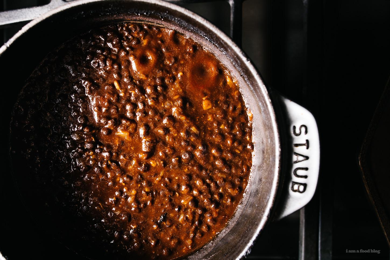 black dal and garlic naan - www.iamafoodblog.com