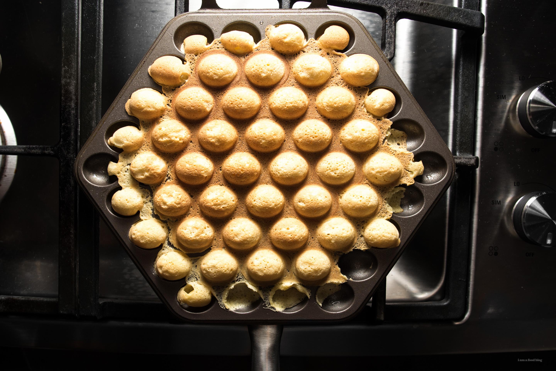 bubble egg waffles - www.iamafoodblog.com