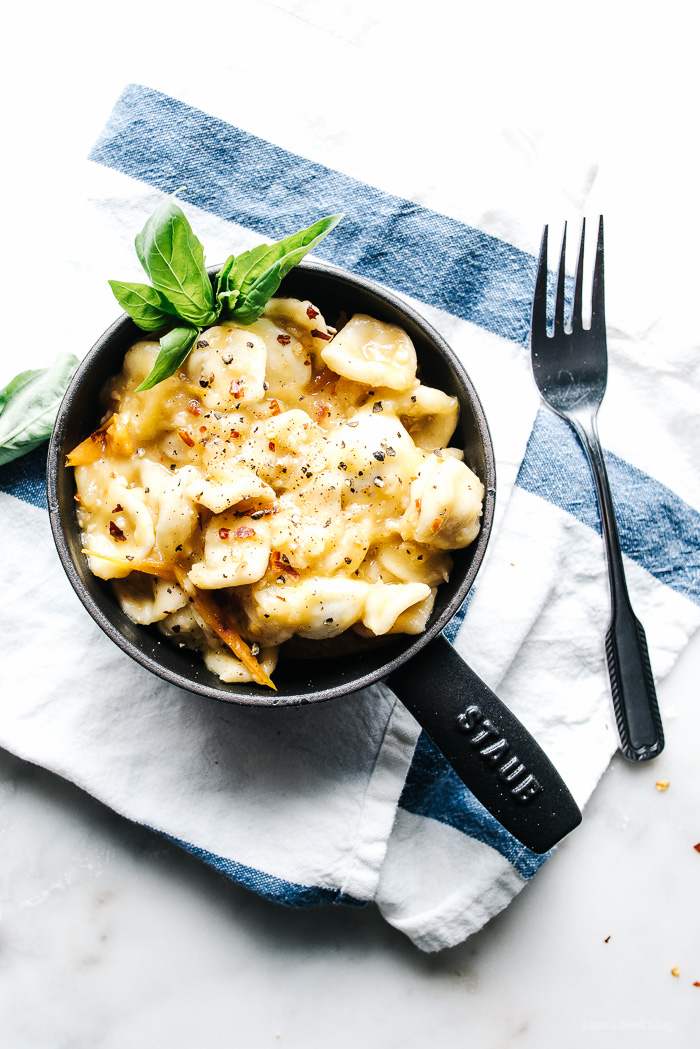 st. patrick's day pot of gold pasta - orecchiette with yellow tomatoes and bocconcini recipe - www.iamafoodblog.com