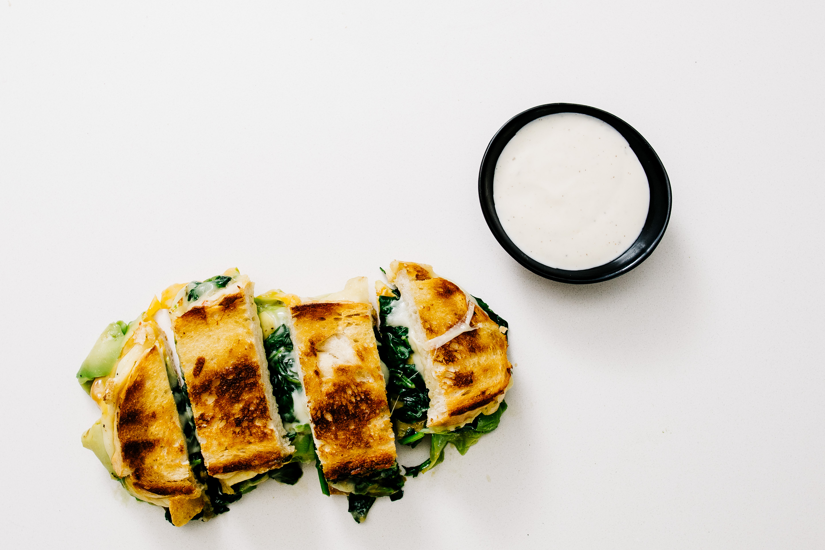 green grilled cheese dippers with ranch - www.iamafoodblog.com