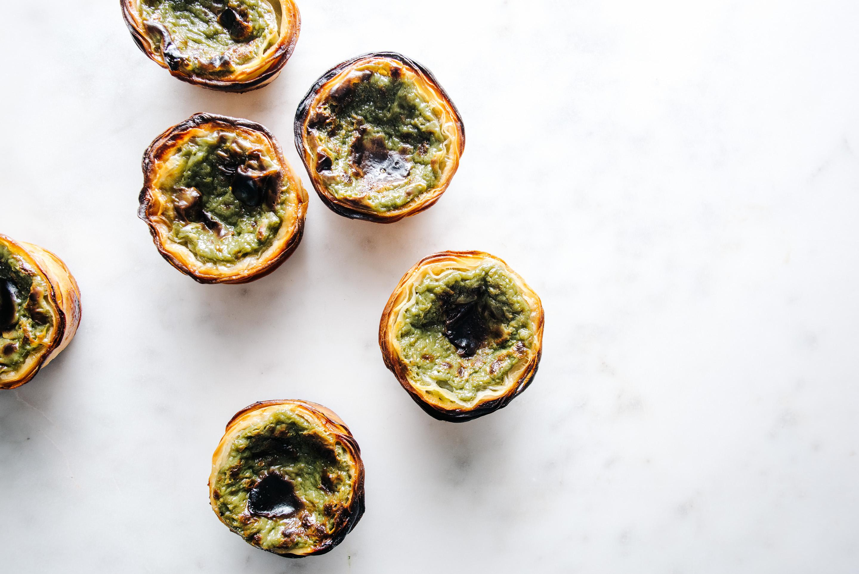 matcha portuguese egg tarts - www.iamafoodblog.com