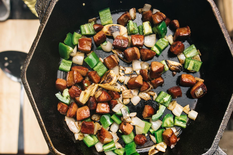 hot dog jalapeno hash - www.iamafoodblog.com