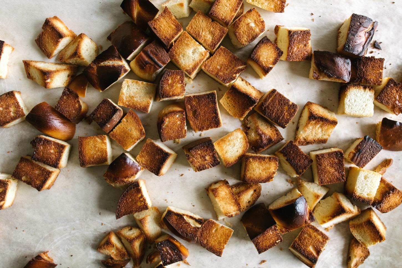 Mushroom, Rosemary & Thyme Challah Stuffing