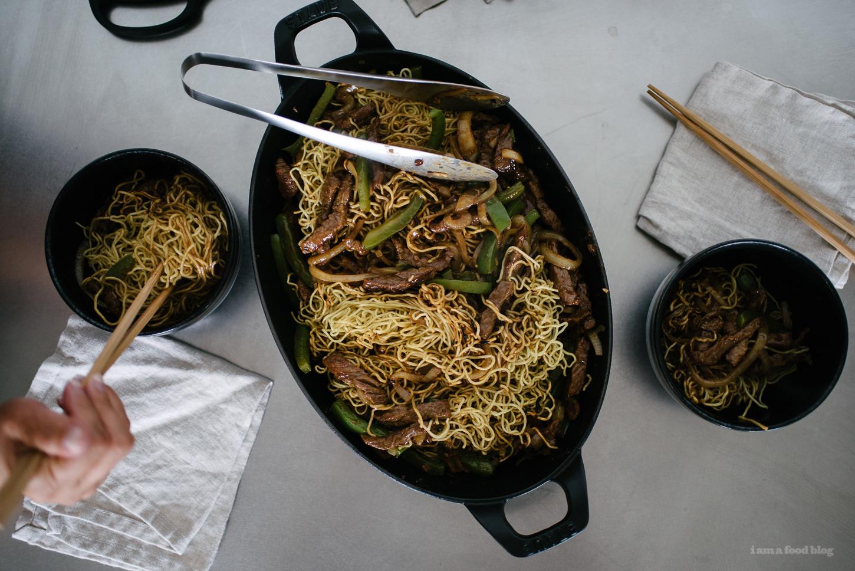 black bean beef chow mein - www.iamafoodblog.com