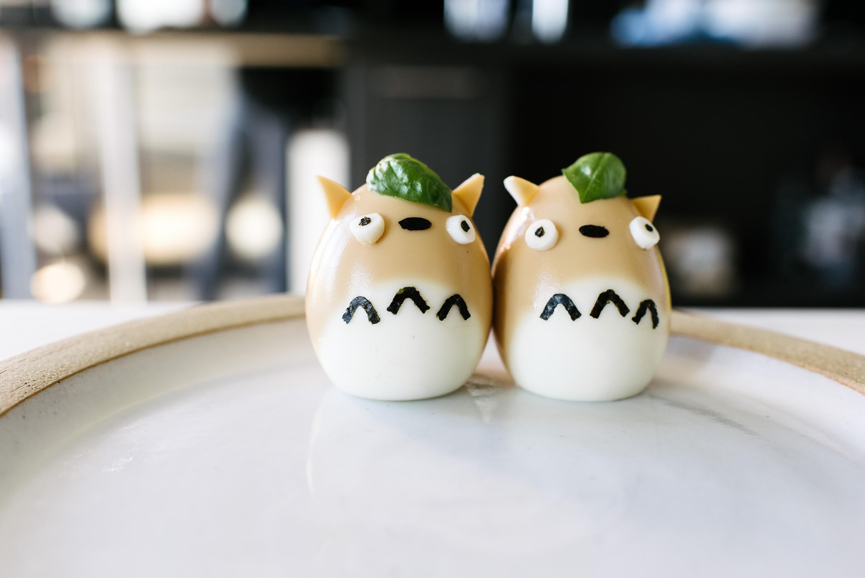totoro tea eggs - www.iamafoodblog.com