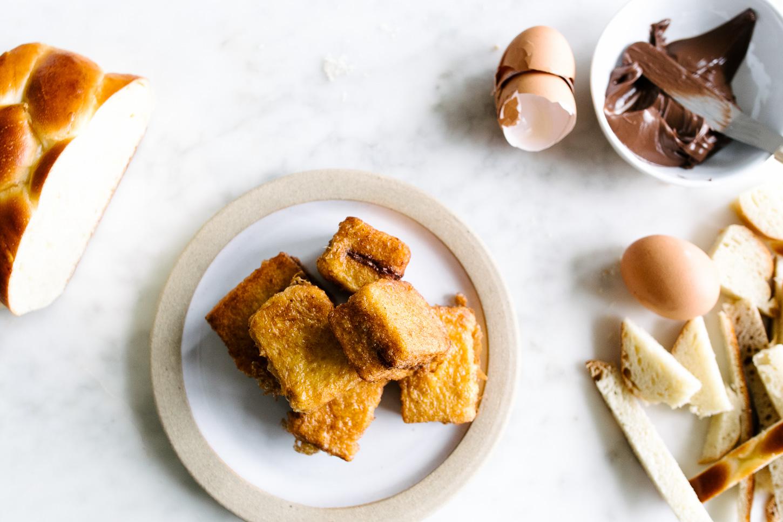 hk style nutella french toast - www.iamafoodblog.com