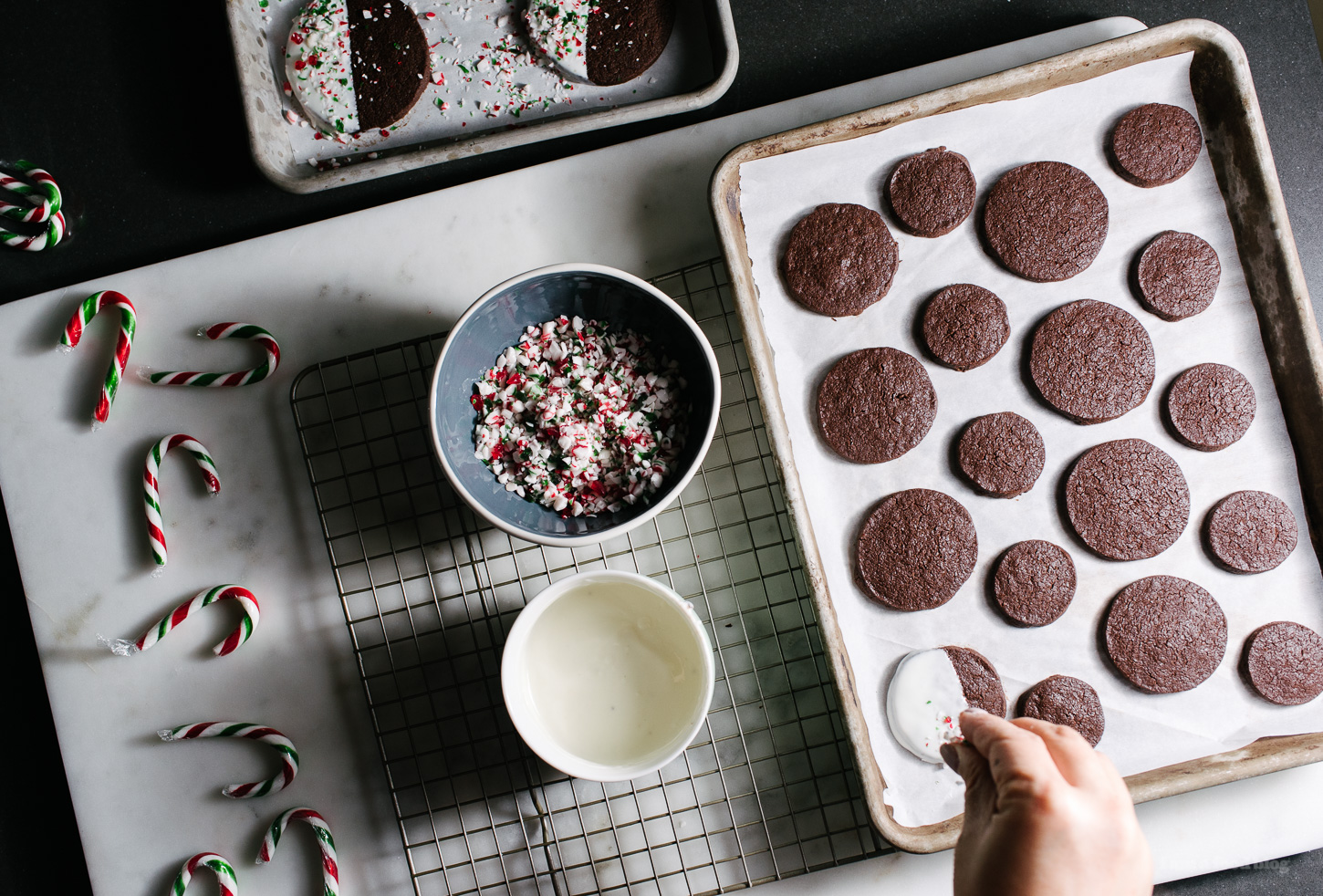 peppermint bark cookie recipes - www.iamafoodblog.com