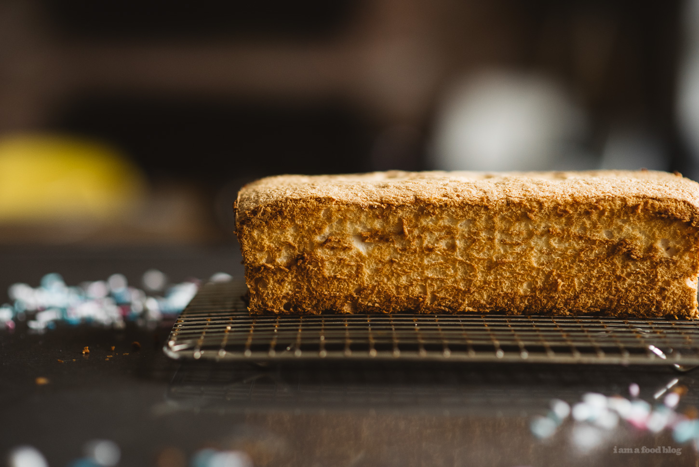 Angel Food Cake Loaf - www.iamafoodblog.com