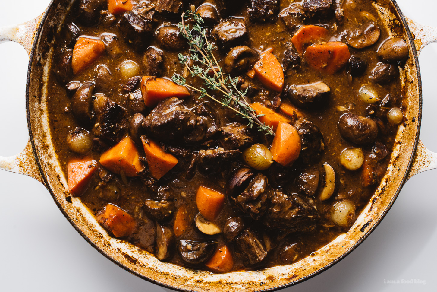 quick and easy beef bourguignon recipe - www.iamafoodblog.com