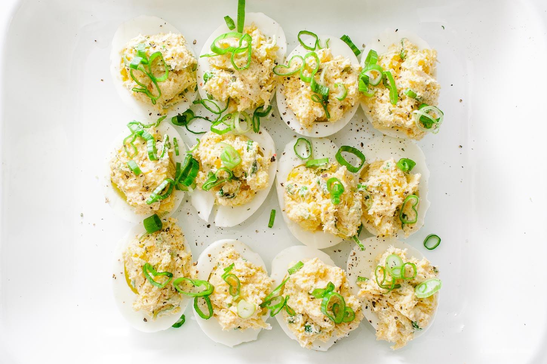 Crab Rangoon Deviled Eggs Recipe - www.iamafoodblog.com