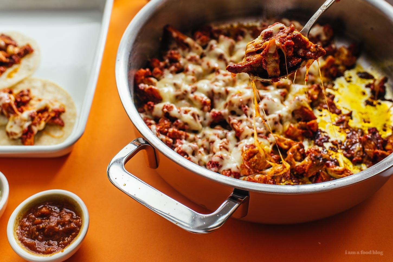 Cheesy Tacos Al Pastor Recipe - www.iamafoodblog.com