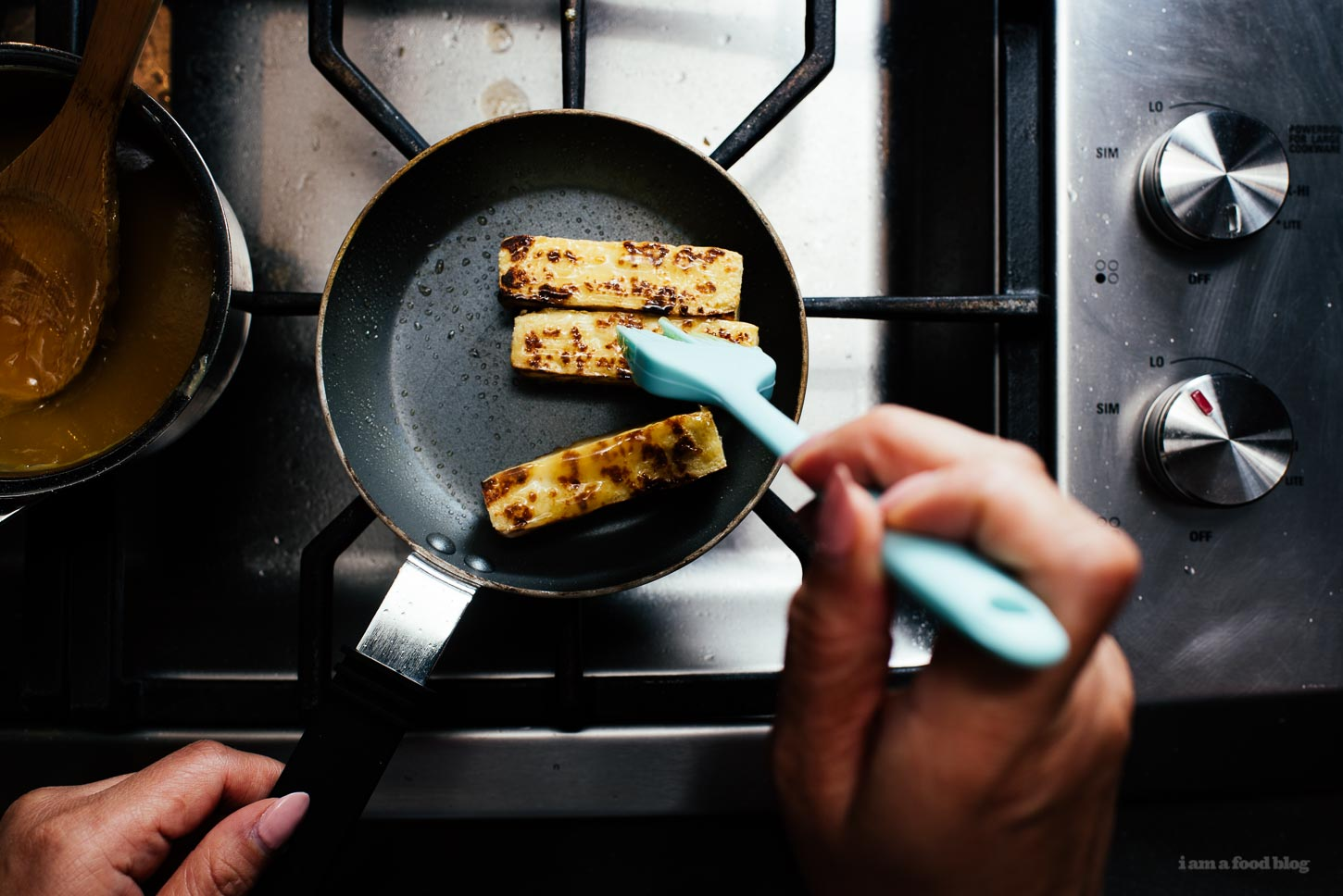 Grilled Sweet and Savory Miso Glazed Tofu Recipe - www.iamafoodblog.com
