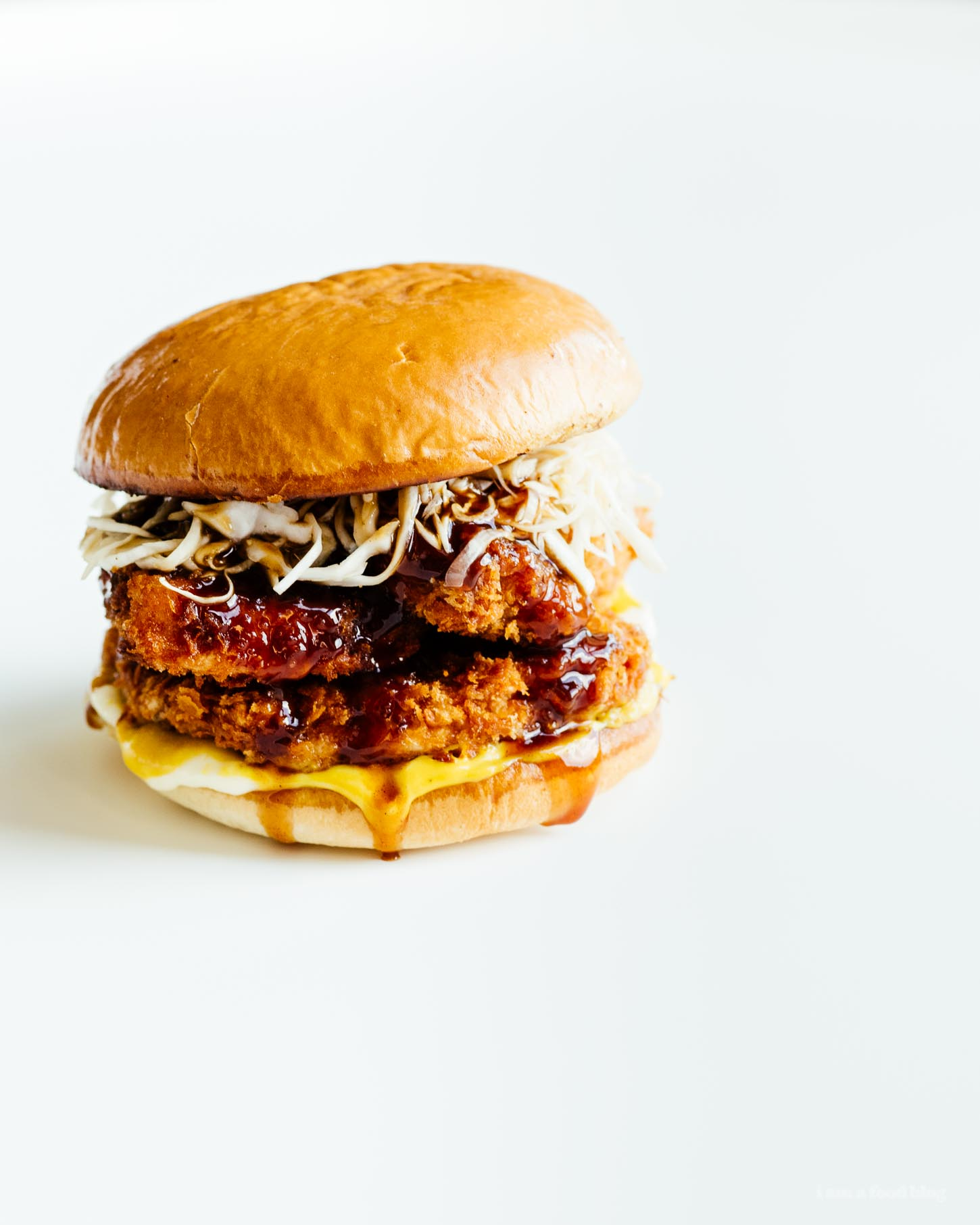 Tonkatsu Burger Recipe - www.iamafoodblog.com