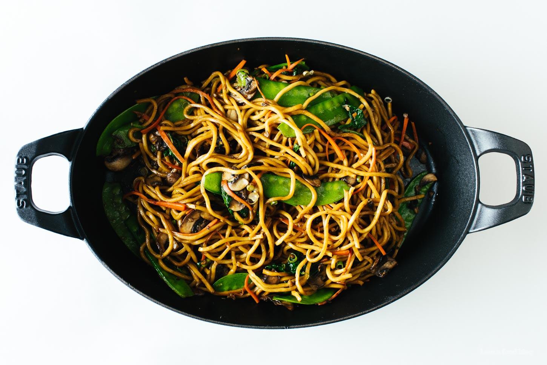 The Real Lo Mein Recipe - www.iamafoodblog.com