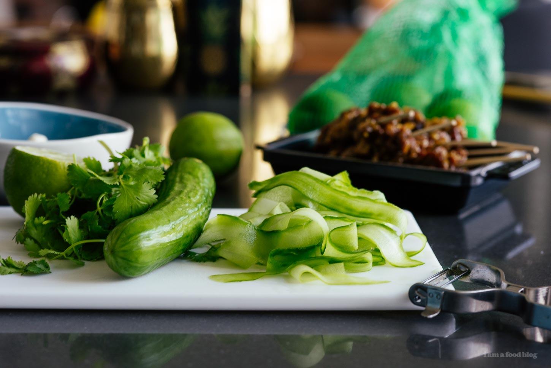 Sweet and Spicy Beef Satay Burger - www.iamafoodblog.com
