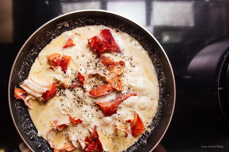 Creamy Lobster Pasta Recipe - www.iamafoodblog.com