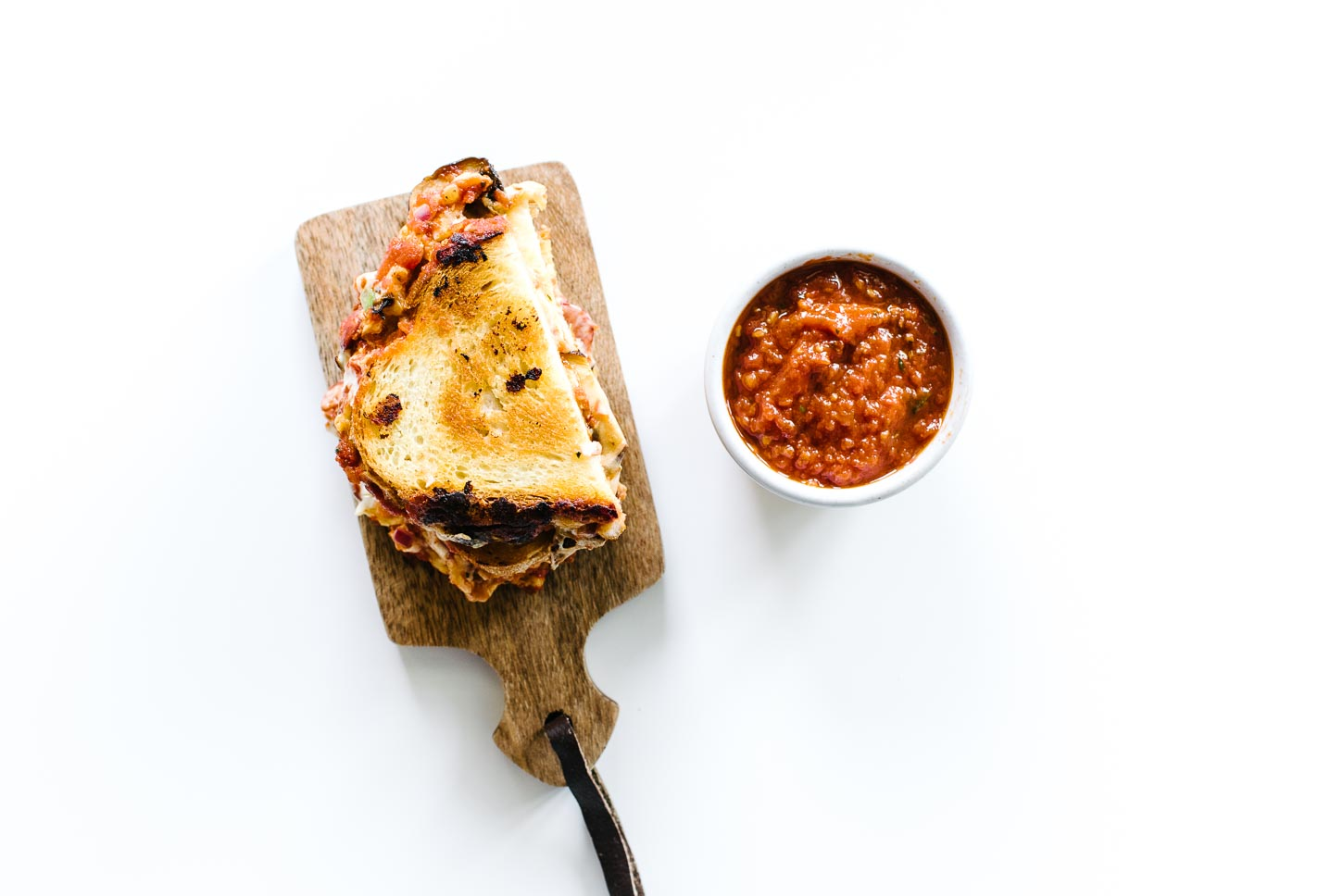 Pizza Grilled Cheese Recipe - www.iamafoodblog.com