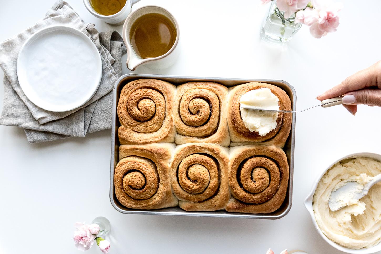 Easy 6 Ingredient Cinnamon Buns Recipe - www.iamafoodblog.com