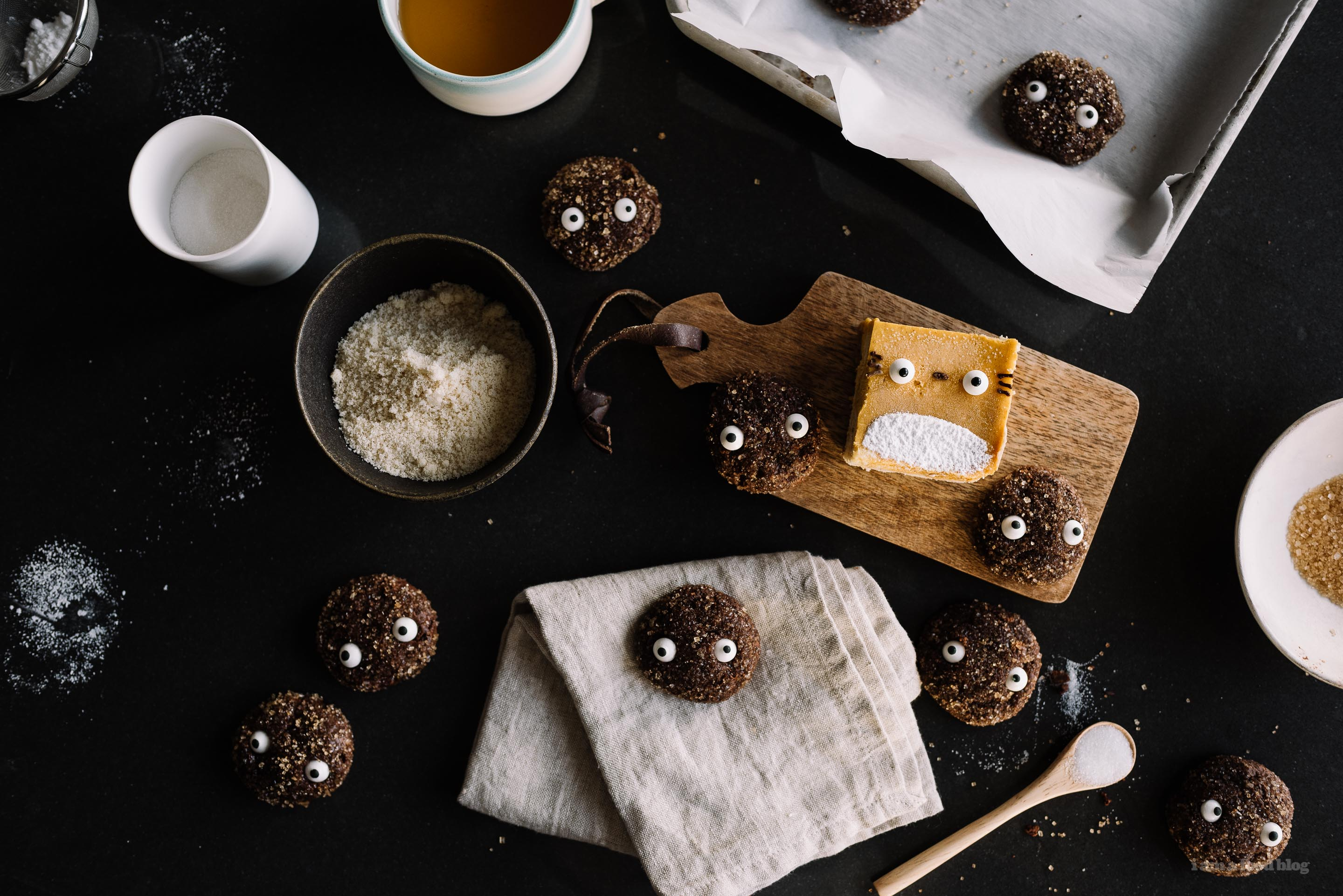 totoro soot sprite chocolate sparkle cookies - www.iamafoodblog.com