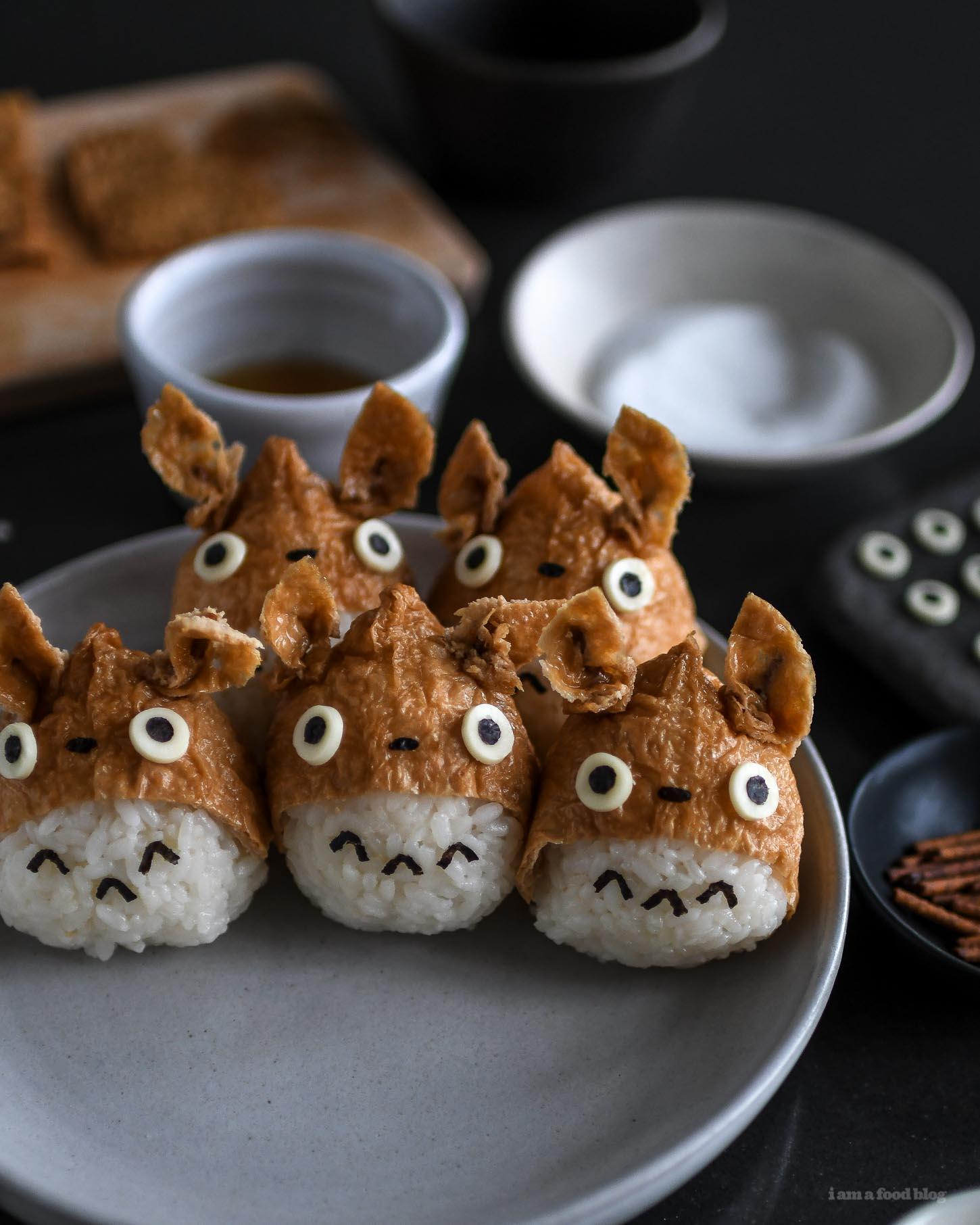 totoro inari sushi recipe - www.iamafoodblog.com