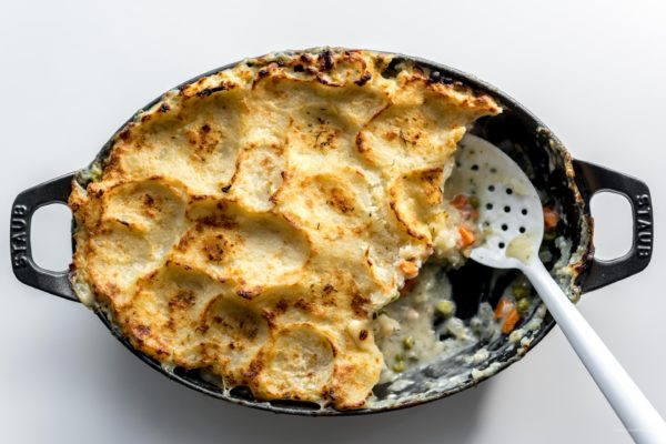 potato topped turkey pot pie | i am a food blog
