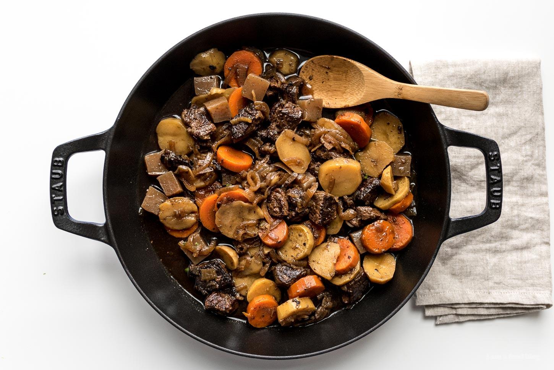 Japanese Nikujaga Beef Stew Recipe | www.iamafoodblog.com