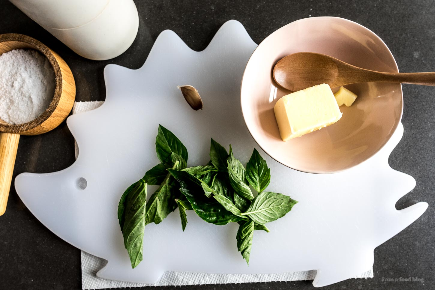 Simple Sous Vide Rib Eye Steak Recipe with Basil Garlic Compound Butter | www.iamafoodblog.com