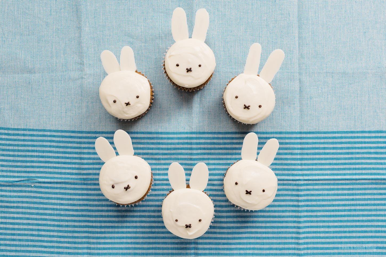 Miffy Small Batch Carrot Cupcakes | www.iamafoodblog.com