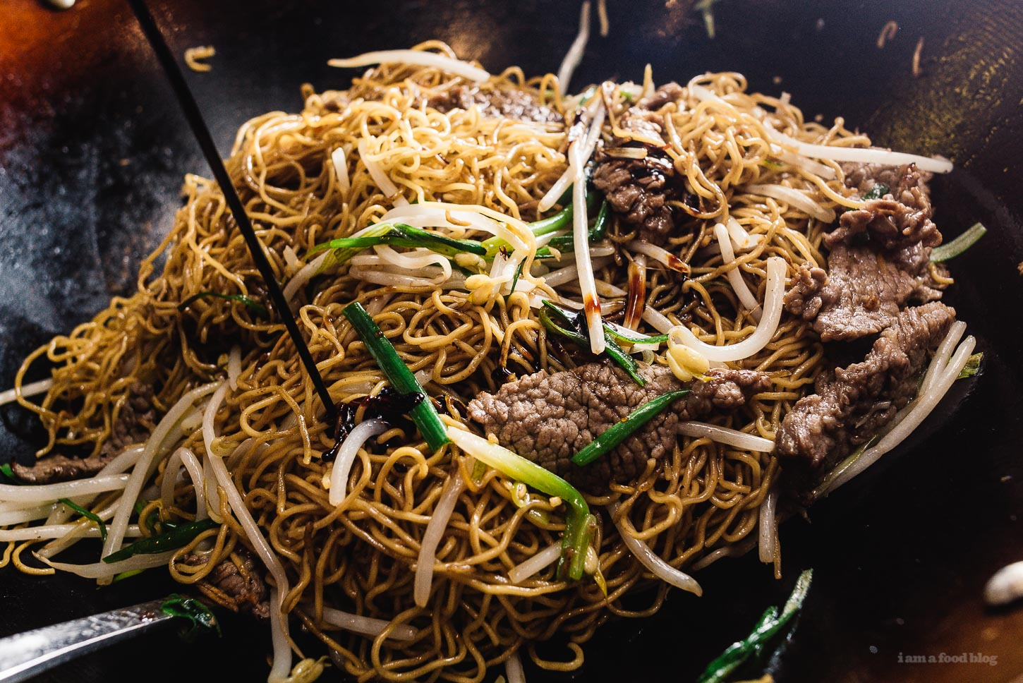 Easy Soy Sauce Chow Mein Recipe | www.iamafoodblog.com