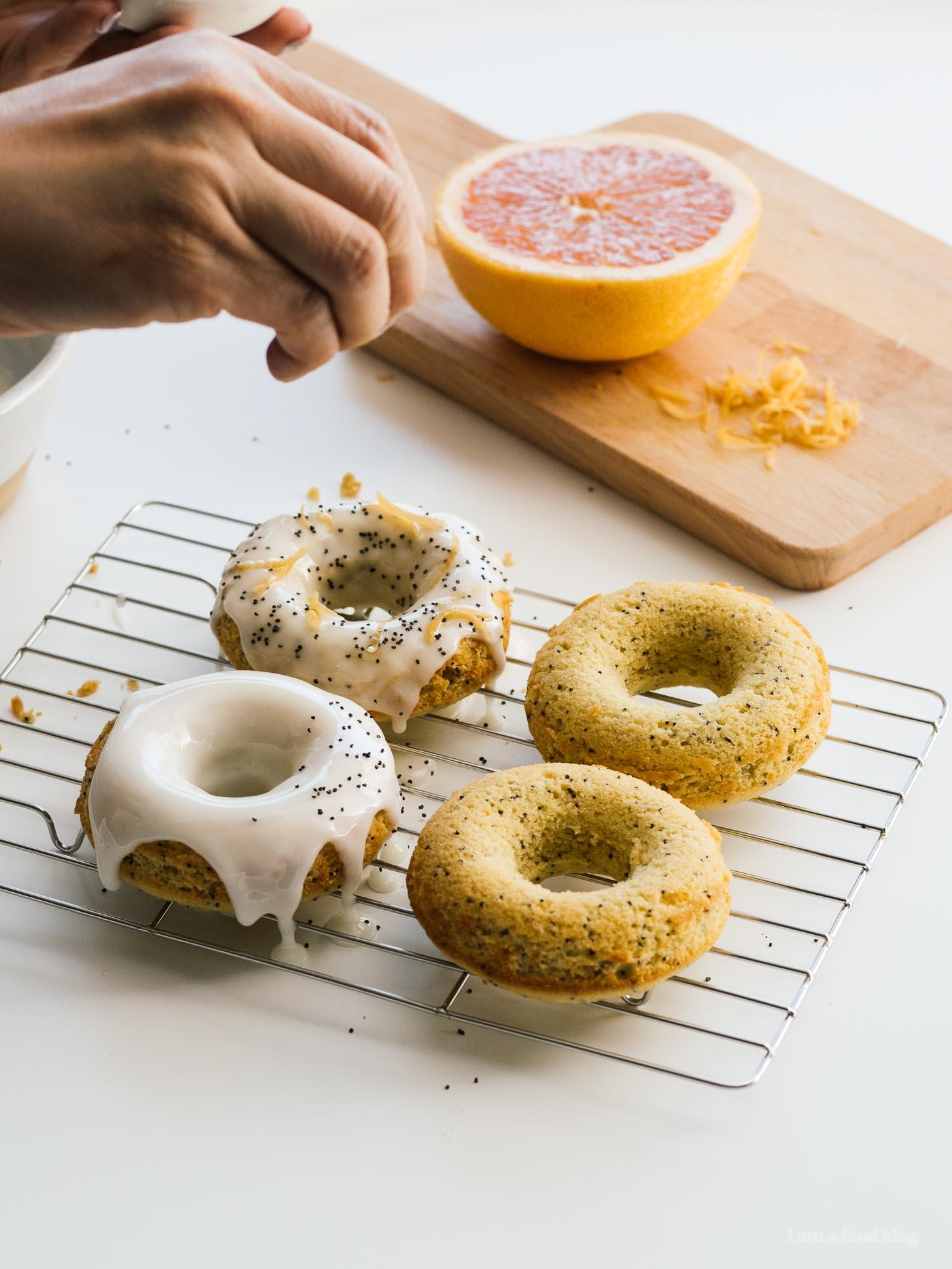 Grapefruit Olive Oil Yogurt Baked Donuts Recipe   www.iamafoodblog.com