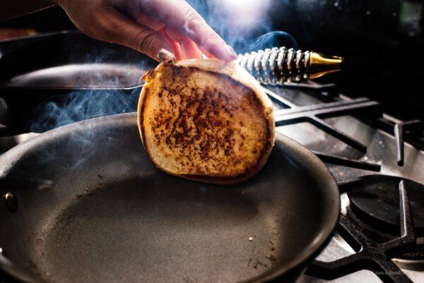 toasting burger buns | www.iamafoodblog.com