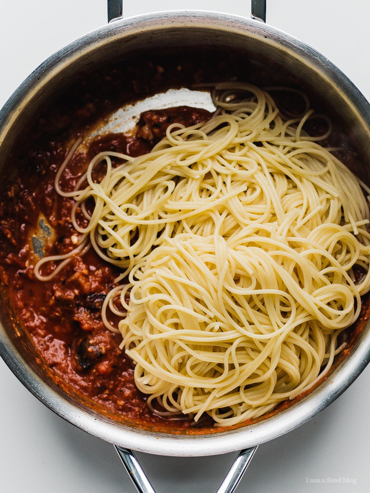 Secret Ingredient Pasta all'Amatriciana Recipe   www.iamafoodblog.com